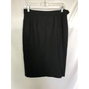 Yves Saint Laurent Black Wool Pencil Skirt 38/US6